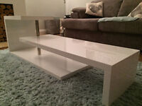 Beautiful White High Gloss Effect coffee table for sale, grab yourself a bargain.