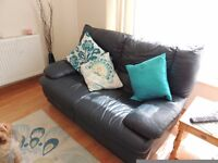 navy blue two seater sofa