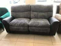 Brand New 3 Seater Grey Cord Mix Recliner Sofa