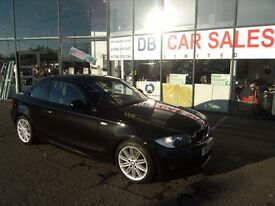 DIESEL !!! 2010 BMW 1 SERIES 2.0 120D M SPORT 2D 175 BHP **** GUARANTEED FINANCE **** PART EX WEL