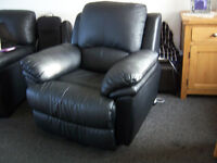 Black reclining chair as new condition