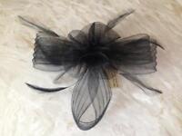 Black Bow Wedding Facinator