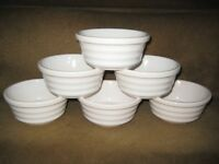 6 Ceramic Charlie Brighams Ovenproof Pie Dishes for £5.00