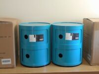 STORAGE CABINETS CIRCULAR. BEDROOM : PLAYROOM Etc., ABS PLASTIC KARTELL STYLE .BRAND NEW.TURQUOISE