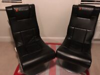 2 X rocker gaming chairs for sale. Great condition, hardly used bought 12 months ago.