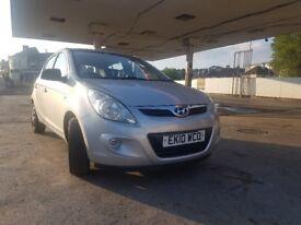 Hyundai I20 Classic PB 2010 Petrol Silver 11 Month MOT no Advisories 5 dr 5 Spd Maual(V.LOW MILEAGE)
