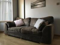3 seat sofa in mink (DFS) in good condition