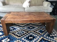 Living room coffee table, thick reclaimed oak, very heavy