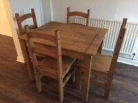 Wooden Dining Table and 4 Chairs £50