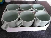 IKEA Green Mugs FARGRIK x6