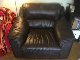 Leather armchair - V Good Condition, Open to Offers