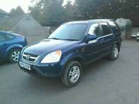 02 Honda Crv 2.0 5 door Half leather trim 2 owners clean car ( can be viewed inside anytime)