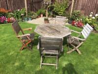 Teak garden table- in need of refurbishment