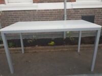 High office/meeting table, white gloss finish, 2 available, £120 each NO OFFER