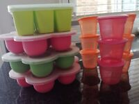 Beaba, Garden Fresh and Tommy Tippee baby food containers perfect for freezing.