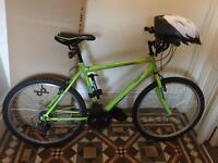 6 month old new bike + helmet + pump + lock