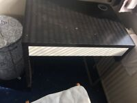 Brown and metal small computer Desk * Bargain*