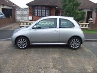 2006 NISSAN MICRA 1.6 SR.3 DOOR MET GRAY/SILVER MOT AUGUST 2018
