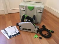 Festool TS 55 REBQ-Plus Plunge-cut (rail/track) saw, GB 240v unregistered (RRP: £474)