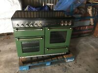 110 RangeMaster in Green with Extractor Fan