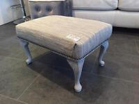 Retro upcycled Vintage shabby chic footstool