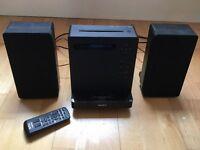 Sony stereo with CD, DAB radio and I pod dock