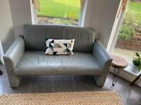 3 Piece Grey Leather Lounge Suite