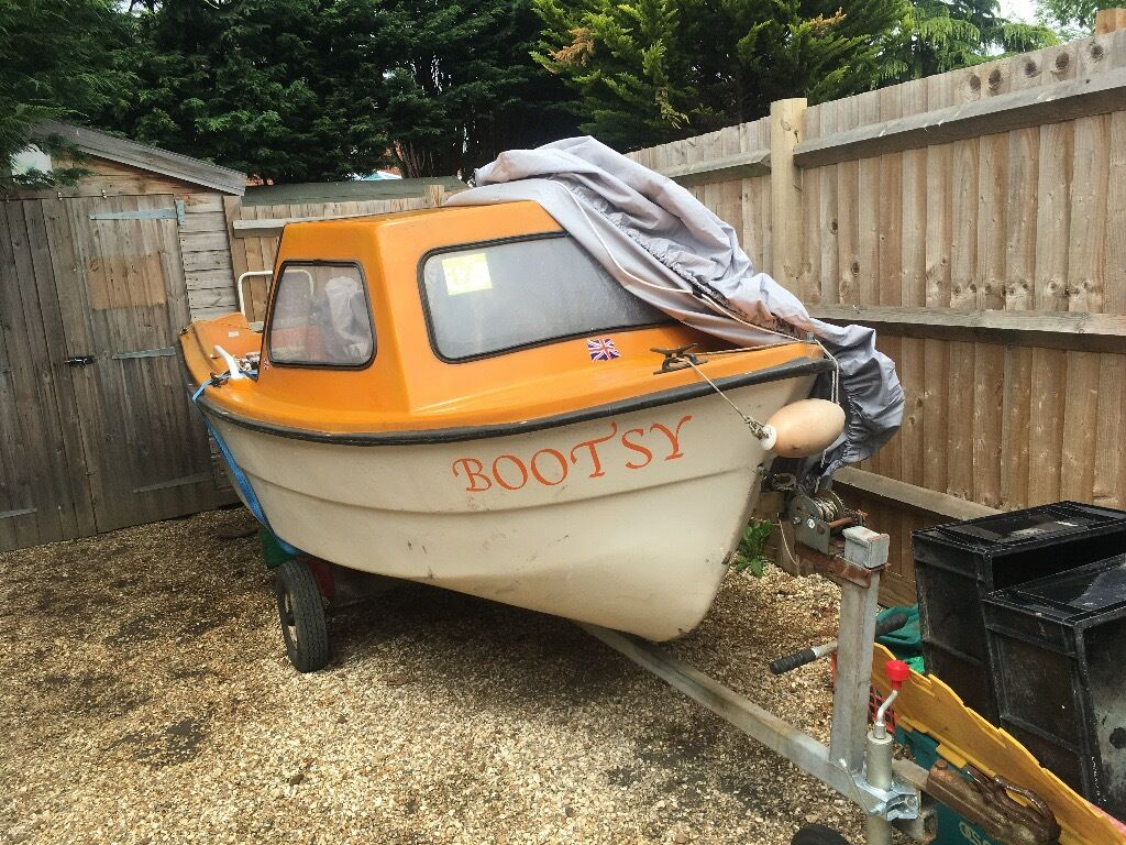 Cheap Used Jet Skis For Sale >> 15ft SOLAR JIFFY CUDDY CABIN BOAT WITH 8hp JOHNSON ENGINE & TRAILER | in Wokingham, Berkshire ...