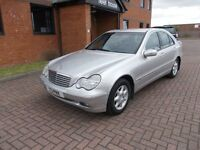 MERCEDES BENZ C180 ELEGANCE (2001) in SILVER, VERY LOW MILES