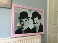 Iconic Comedians Laurel and Hardy Mirror Height 21in/53cm Width 27in/69cm