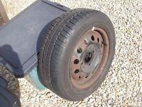 Ford Ka. Spare Wheel. Toyo 350 tubeless radial. 165/65R13. Good condition