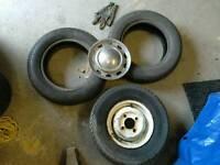 "Mini wheel and 2 x 12"" tyres"
