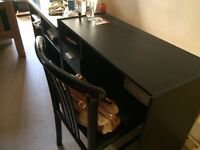Black wooden desk from John Lewis to be picked up in Kensington