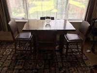 Vintage Art Deco table and chairs