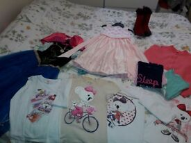Girl clothes 8-12 and shoes 2.5