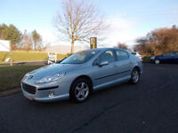 PEUGEOT 407 SE HDI DIESEL SALOON 1.6 STUNNING BLUE 2006 BARGAIN ONLY 950 *LOOK* PX/DELIVERY
