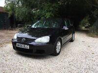 2005 VOLKSWAGEN VW GOLF 1.9 TDI SE 5 DOOR BLACK MK5 VAG 5 SPEED MANUAL CHEAP NO MOT