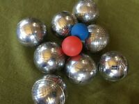 Boules (a French ball game)