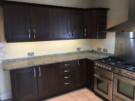 Large Moben kitchen and solid granite worktops