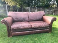Thomas Lloyd 3 Seater Leather Sofa Local Delivery Available