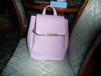Ladies or girls lovely leather lilac small back pack