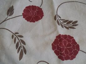3 pairs of lined curtains.