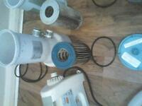 X2 Pool/pond pump's with filters and pipes Also 1X heater with pipes and clips