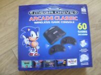 Sega Mega Drive Arcade Classic Wireless Megadrive Game Console Boxed With 1 Controller Works Perfect