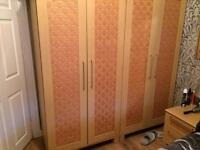 Wordrobes x 2 and chest of drawers