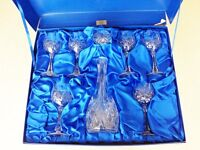 Galway Irish Crystal Decanter and six Wine Goblets
