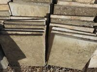 Riven paving slabs 52 number all good condition ready to be relaid