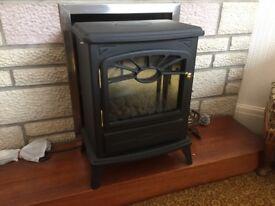 Coal effect electric heater
