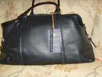 NEW HAMMOND &CO LEATHER HOLDALL WITH ORIGINAL TAGS BLACK RRP £180