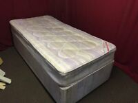 SINGLE DIVAN BED WITH MATTRESS,CAN DELIVER